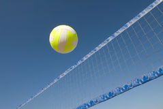 Volleyball over net Stock Image