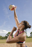 Volleyball Overhand Serve Royalty Free Stock Photos