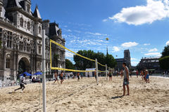 Volleyball in Paris royalty free stock photo