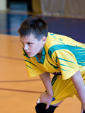Volleyball player. Teenage volleyball player ready to play royalty free stock photography
