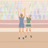 Volleyball player stock illustration