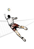The Volleyball Player Royalty Free Stock Image