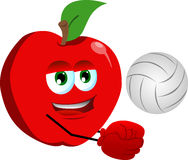 Volleyball player apple Stock Image