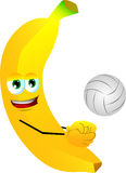 Volleyball player banana Royalty Free Stock Photos