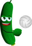 Volleyball player cucumber or pickle Royalty Free Stock Image