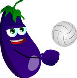 Volleyball player eggplant Stock Images