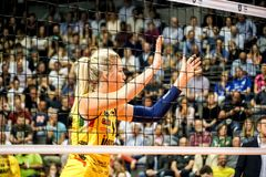 Volleyball player Karsta Lowe royalty free stock photo