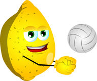 Volleyball player lemon Royalty Free Stock Image