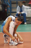 Volleyball player Nataliya Goncharova royalty free stock photos