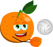 Volleyball player orange Royalty Free Stock Photos