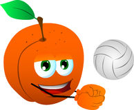 Volleyball player peach Stock Photos