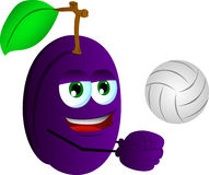 Volleyball player plum Stock Images