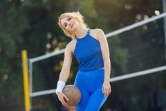 Volleyball player portrait Royalty Free Stock Photo