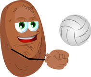 Volleyball player potato Stock Images