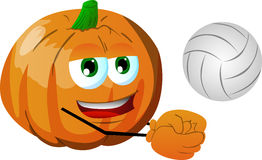 Volleyball player pumpkin Royalty Free Stock Photos