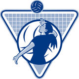 Volleyball Player Serve Ball Side Royalty Free Stock Image