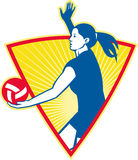 Volleyball Player Serve Ball Side Royalty Free Stock Photos