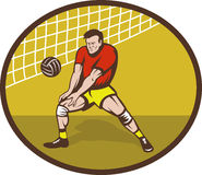 Volleyball player strike ball Royalty Free Stock Photography