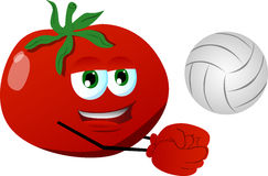 Volleyball player tomato Royalty Free Stock Photography