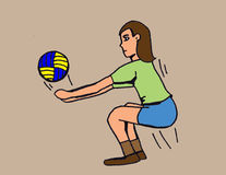 Volleyball players Royalty Free Stock Image