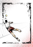 Volleyball  poster Royalty Free Stock Images