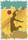 Volleyball poster.Beach volleyball Stock Photography