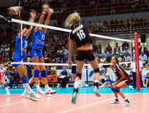 Volleyball: Preolympic Test Match Royalty Free Stock Image