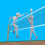 Volleyball puissant d'attaque Images stock