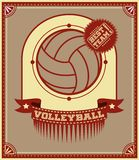Volleyball retro poster Royalty Free Stock Image