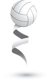 Volleyball on a ribbon. Volleyball attached to a white ribbon Stock Image