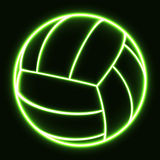Volleyball rougeoyant Image stock