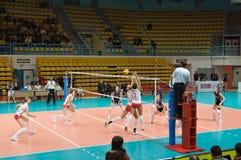 Volleyball russe de femmes Photographie stock