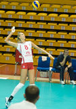 Volleyball russe de femmes Photographie stock libre de droits