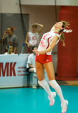Volleyball russe de femmes Photos stock