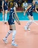 Volleyball russe de femmes Photos stock