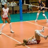 Volleyball russe de femmes Photo stock