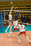 Volleyball russe de femmes Photos libres de droits