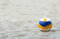 Volleyball. On sand beach background royalty free stock photography