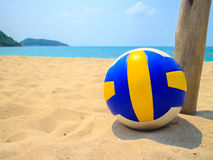 Volleyball in Sand Royalty Free Stock Photos