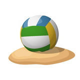 Volleyball on the sand. Stock Photos
