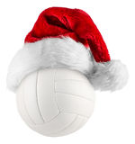 Volleyball santa hat Royalty Free Stock Photo