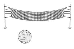 Volleyball set Stock Images