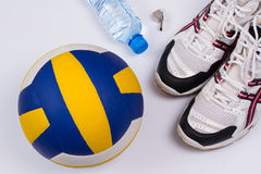 Volleyball set. Royalty Free Stock Images