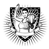Volleyball shield Stock Photos