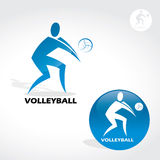 Volleyball sign Stock Photo