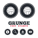 Volleyball sign icon. Beach sport symbol. Royalty Free Stock Images
