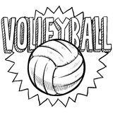 Volleyball sketch Royalty Free Stock Image