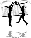 Volleyball Spike/Block royalty free stock photography