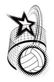 Volleyball sport design element Royalty Free Stock Photography