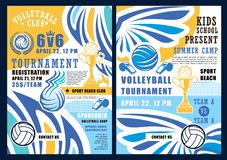 Beach volleyball sport, balls and trophy cup vector illustration